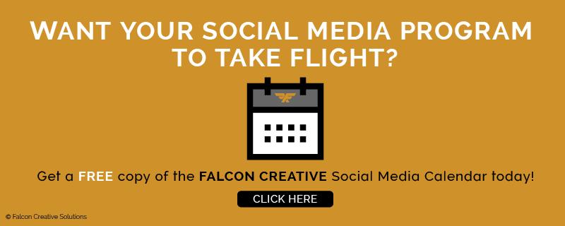 Get your copy of the Falcon Creative Social Media Marketing Calendar (Image)